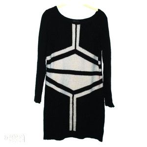 BCBGMaxazria black/tan sweater dress M/L